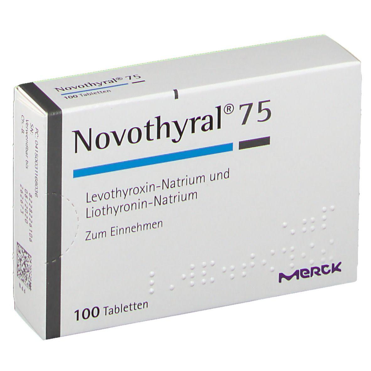 препарат Новотирал / Novothyral 75 + 15 мг №100